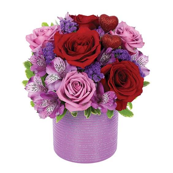 Shimmering Romance flower bouquet ...